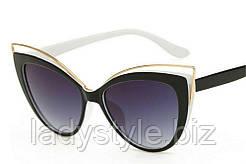 Очки солнцезащитные  черно-белые от студии LadyStyle.Biz