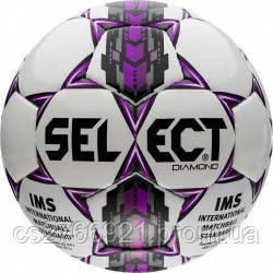 Мяч футбольный SELECT Diamond IMS бел/сер/крас размер 5, фото 2