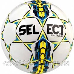 Мяч футбольный SELECT Diamond NEW бел/син, размер 4, фото 2