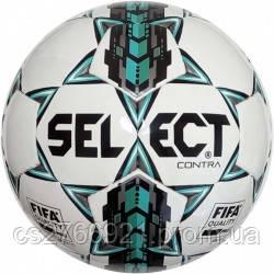 Мяч футбольный SELECT Contra FIFA бел/сер/голуб размер 5
