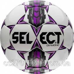Мяч футбольный SELECT Diamond бел/сер/крас размер 3, фото 2