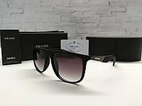 Мужские солнцезащитные очки Prada Прада черные (реплика)