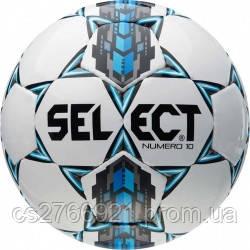 Мяч футбольный SELECT Numero 10 (305) бел/сер/голуб, размер 4, фото 2
