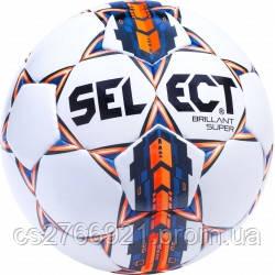Мяч футбольный SELECT Brillant Super (001) белый размер 5, фото 2