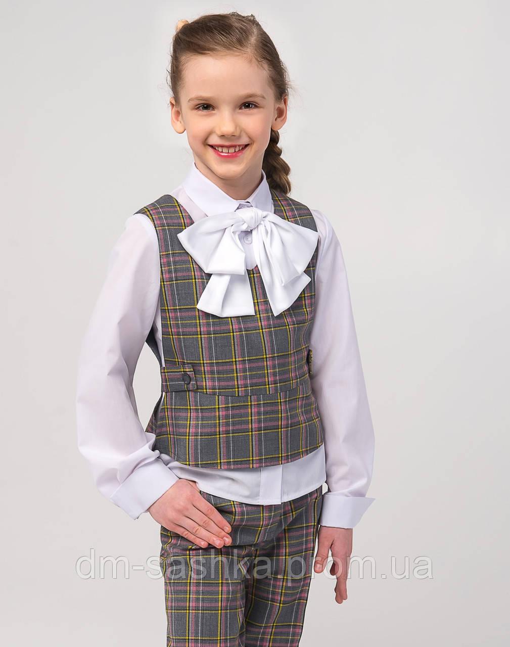 Жилет школьный для девочки серый
