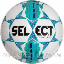 Мяч футбольный SELECT Campo Pro ((320) бел/зелен) размер 5, фото 2