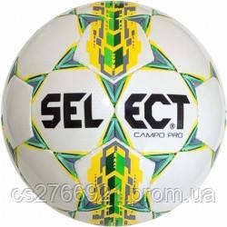 Мяч футбольный SELECT Campo Pro ((320) бел/желт) размер 3, фото 2