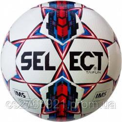 Мяч футбольный SELECT Taifun (017) бел/красн, pазмер 5, фото 2