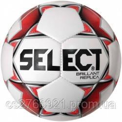 Мяч футбольный SELECT Brillant Replica New (316) бел/красн размер 3, фото 2