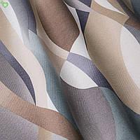 Декоративная ткань кривая полоса серая с коричневым Испания 83357v1