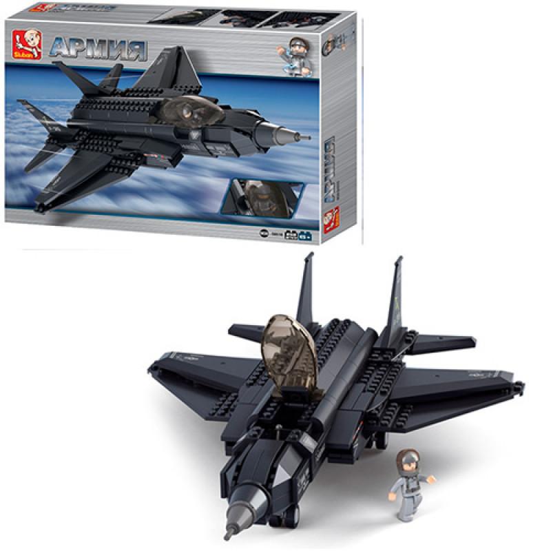 Конструктор SLUBAN Армия, военный самолет, фигурка, 252дет., M38-B0510