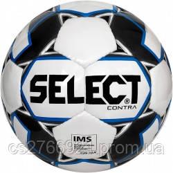 Мяч футбольный SELECT Contra IMS (306), бел/синий р.5, фото 2