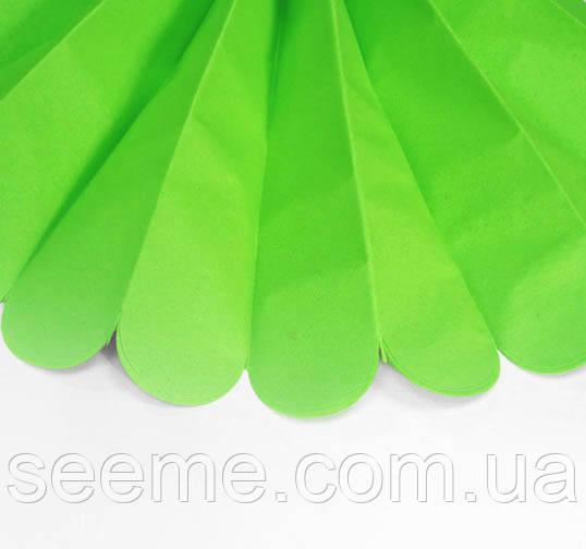 Бумажные помпоны из тишью «Bright Lime», диаметр 25 см.