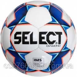 Мяч футбольный SELECT Diamond IMS NEW (310) , бел/син/оранж размер 5, фото 2