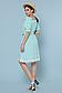 Летнее платье с поясом рукав фонарик открытые плечи р.42-48, фото 2