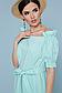 Летнее платье с поясом рукав фонарик открытые плечи р.42-48, фото 4