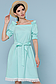 Летнее платье с поясом рукав фонарик открытые плечи р.42-48, фото 5