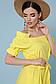 Летнее платье с поясом рукав фонарик открытые плечи р.42-48, фото 8
