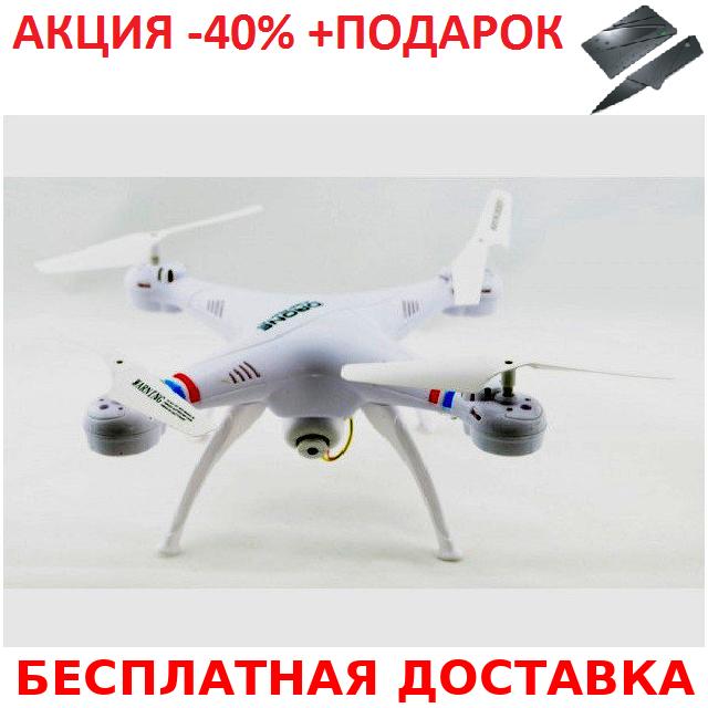 Квадракоптер 1million c WiFi камерой копия X5C Syma + нож- визитка