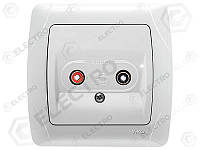 90561037 Аудиорозетка для динамиков белая Carmen