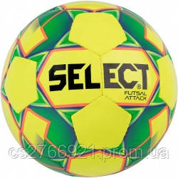 Мяч футзальный Select Futsal Attack NEW (024) желт/зел/shiny, фото 2
