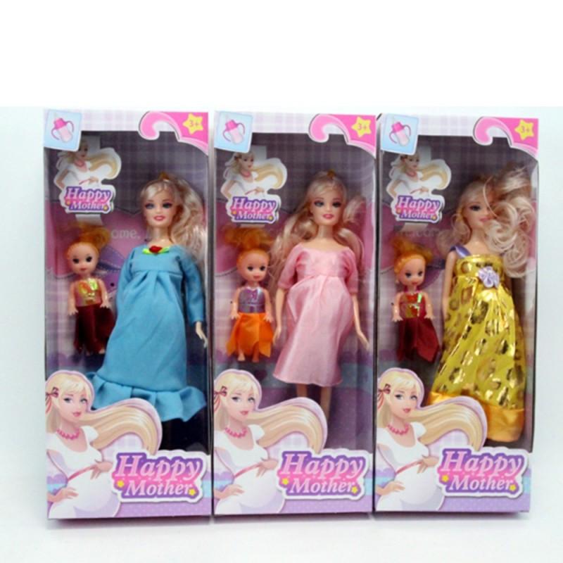 Кукла беременная, 28см, дочка 10см, микс видов, 858A1
