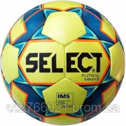 Мяч футзальный Select Futsal Mimas IMS NEW (102) желт/син, фото 2