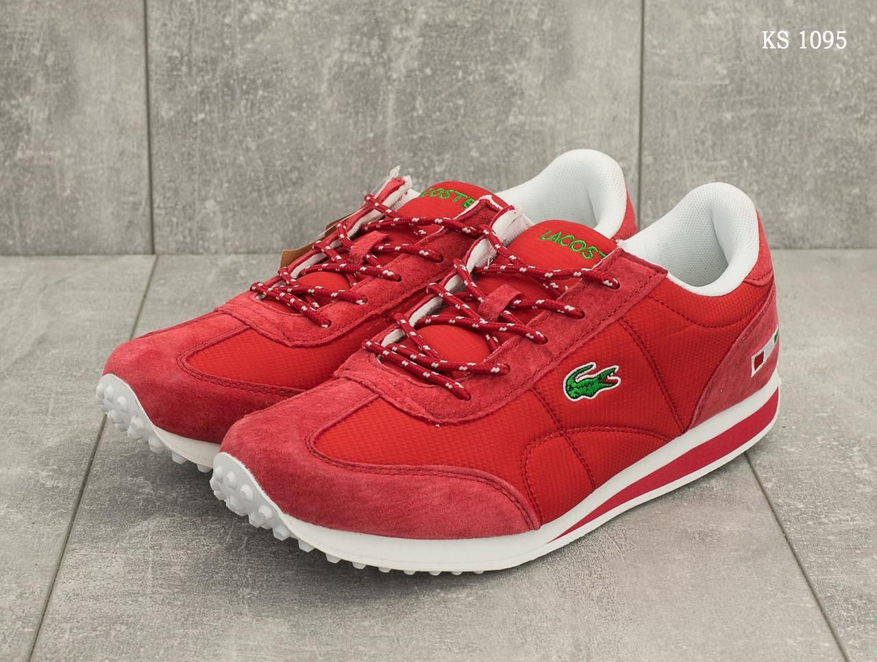 Мужские кроссовки Lacoste (красные)