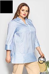 Рубашка-блуза женская, летняя, размер:48-62