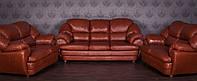 """Кожаный диван """"Аляска"""" В наличии, от производителя, диван в коже, комплект мягкой мебели"""
