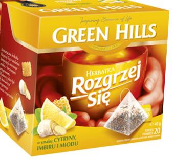 Чай Green Hills Rozgrzej Sie o smaku Cytryny, Imbiru i Miodu  20 пакетов