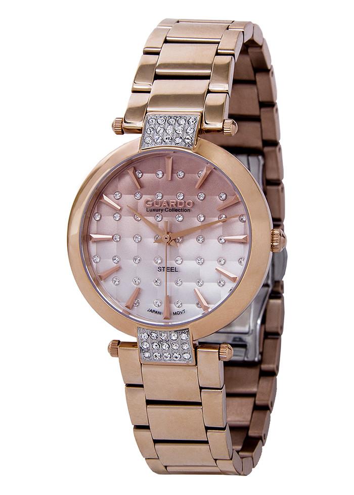 Годинники жіночі Guardo S2040-3 бронзові