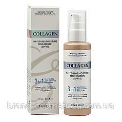 Тональный крем Collagen Whitening Moisture Foundation  SPF15 3 в 1 осветляющий