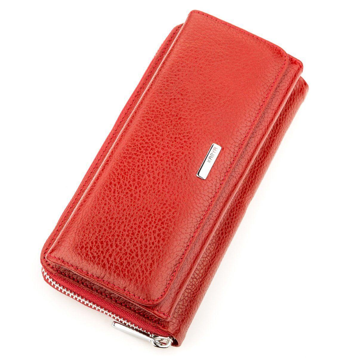 Кошелек женский KARYA 17250 кожаный Красный, Красный