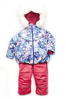 Костюм зимний куртка и полукомбинезон для девочки 'Снежинка'