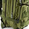 Военный тактический, городской, штурмовой, туристический рюкзак For-Tactic на 45л Зеленый, фото 5