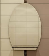 Зеркало с полкой 67х55 см
