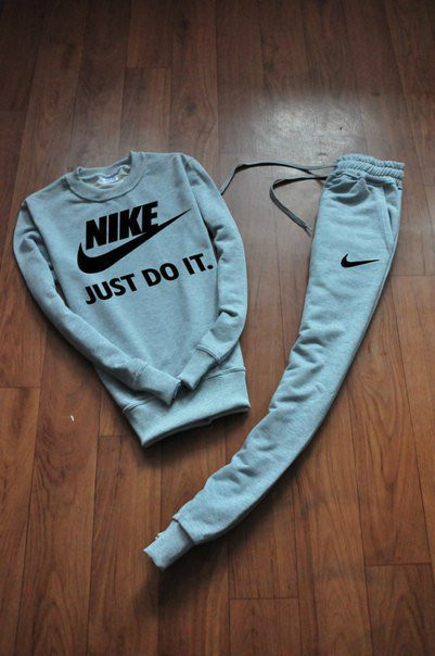 Серый мужской Зимний тренировочный костюм  Nike (Найк)