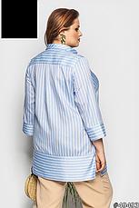 Рубашка-блуза женская, летняя, размер:48-62, фото 3