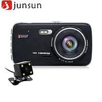 Регистратор 2 камеры Junsun H6 G-сенсор, камера заднего вида