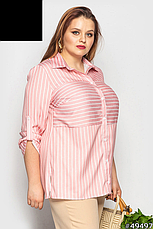 Рубашка-блуза женская, летняя, размер:48-62, фото 2