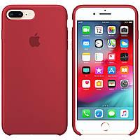 Силиконовый чехол для Apple iPhone 7 Plus / 8 Plus Silicone case (Марсала)