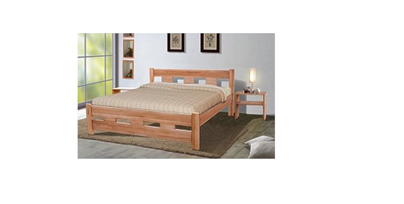 Деревянная кровать Микс Мебель SPACE, 1600*2000 Орех