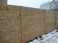 Забор с гранитной крошки,гранитный забор