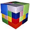 Детский мягкий конструктор Кубик Рубика, 28 эл.