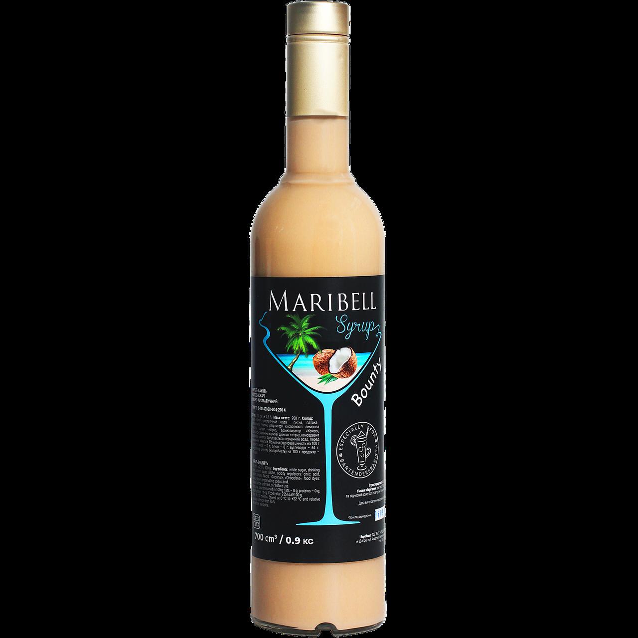 "Сироп коктейльный Maribel ""Баунти"" 700мл"