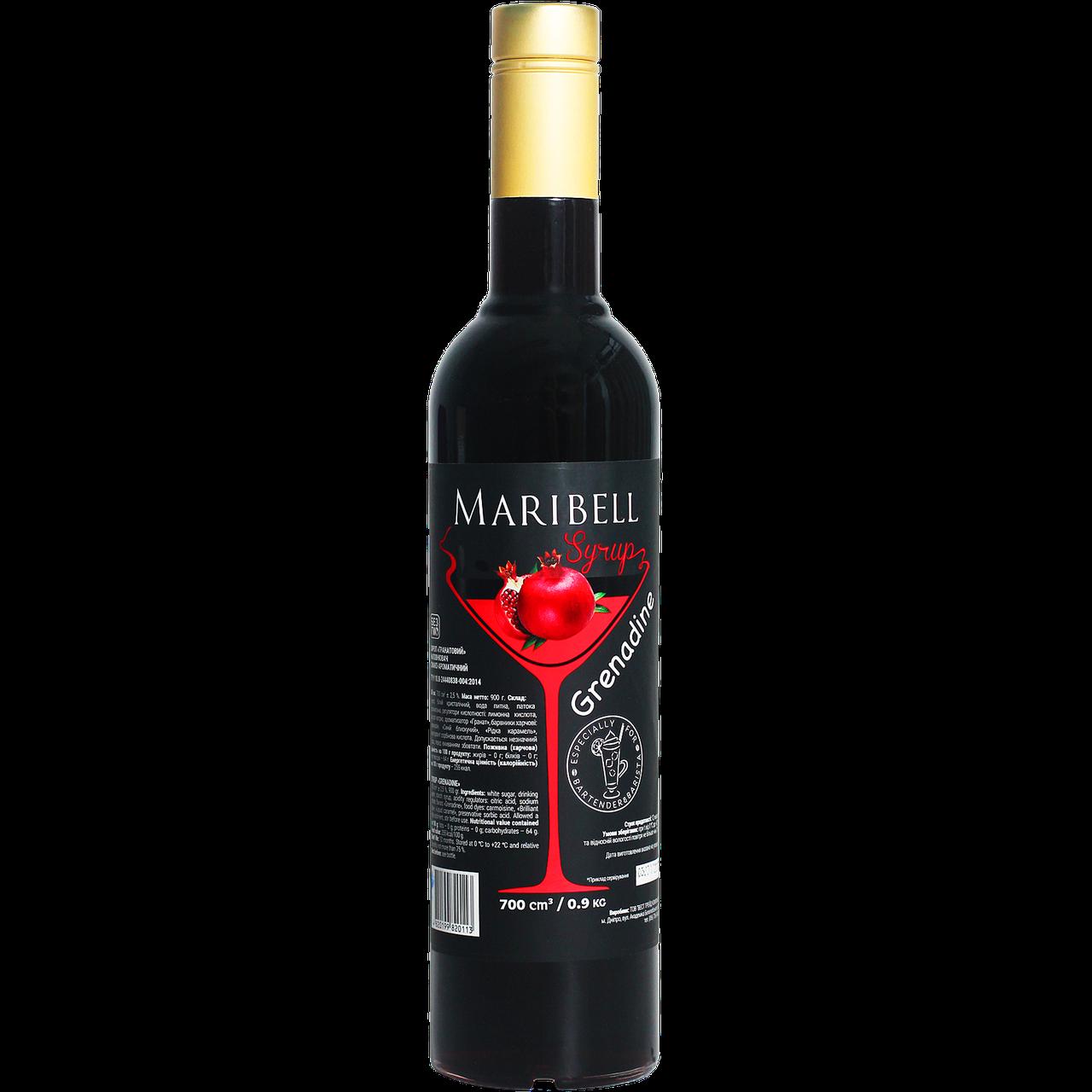 "Сироп коктейльный Maribell ""Гренадин"" 700мл"