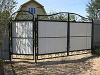 Ворота из профлиста, ворота профнастил