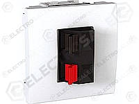 MGU3.486.18 Аудио розетка, 2м, белая Schneider Electric