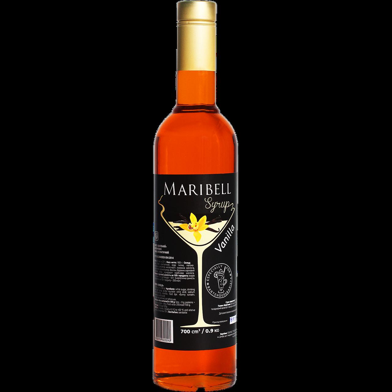 """Сироп коктейльный Maribell """"Ваниль"""" 700мл"""